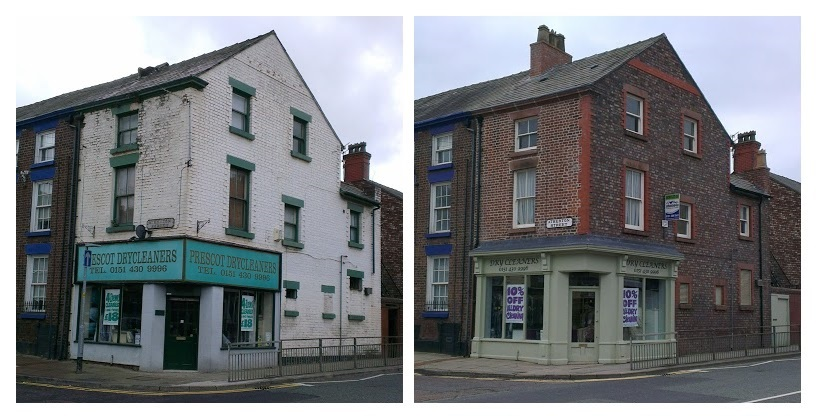 Prescot Dry Cleaners - 40 High Street - A Totally Rebuilt Shop Frontage