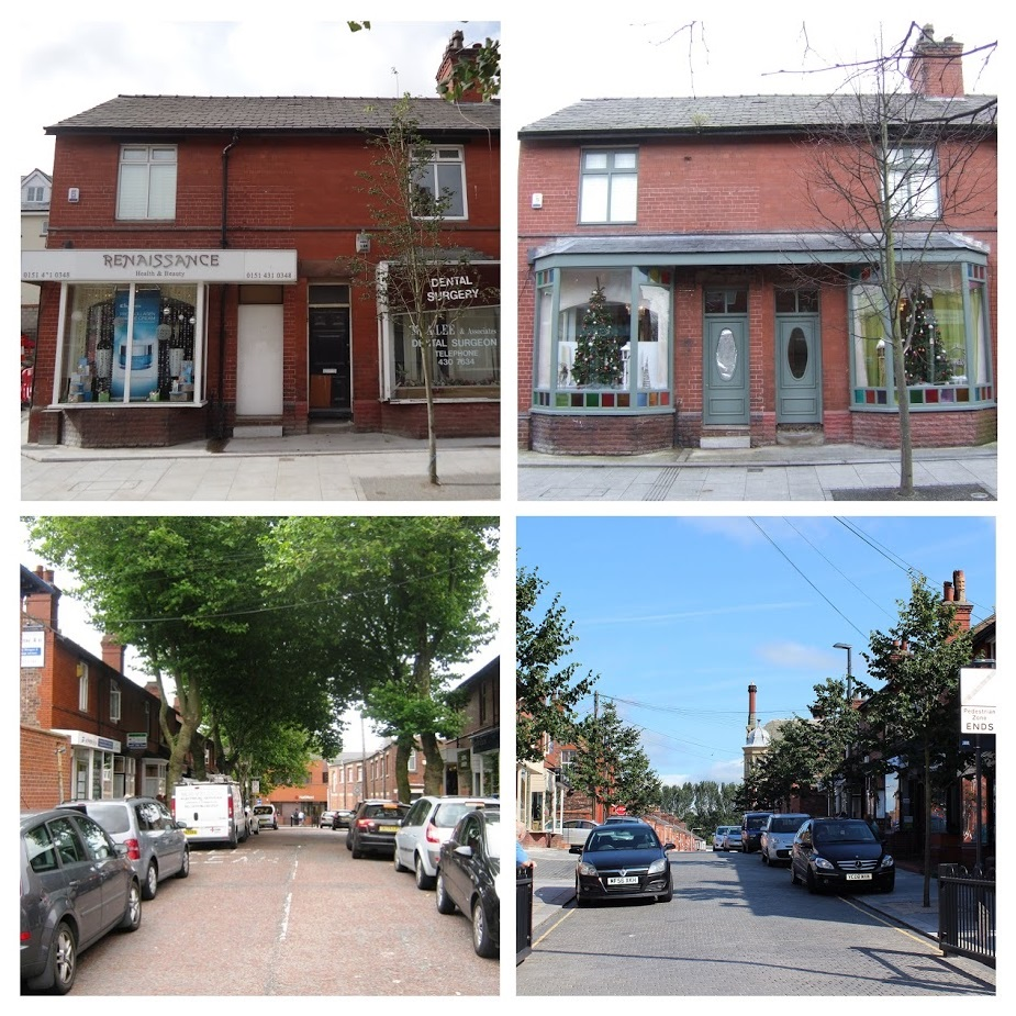 Restored houses/shops and impoved public realm open up the street.