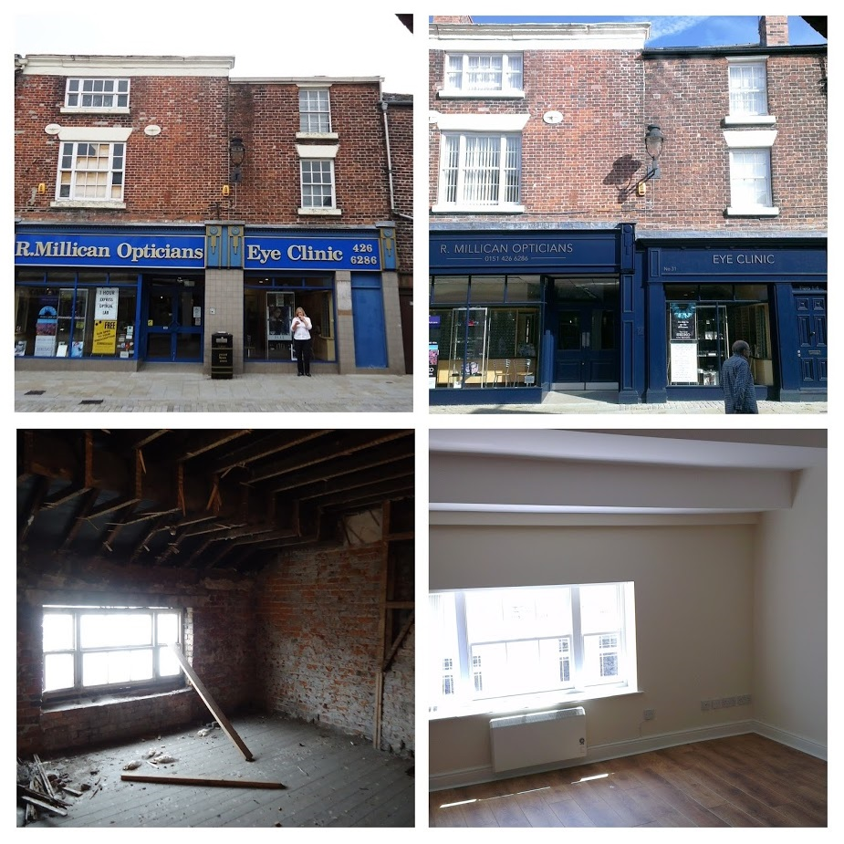 Millicans Options is not only a beautifully crafted shop frontage but also allows four flats above to be brought back into use.